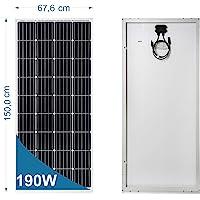 190 Watt 12 Volt Panel solar monocristalino