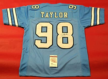 6e72656f2200 Image Unavailable. Image not available for. Color  Signed Lawrence Taylor  Jersey - Unc ...