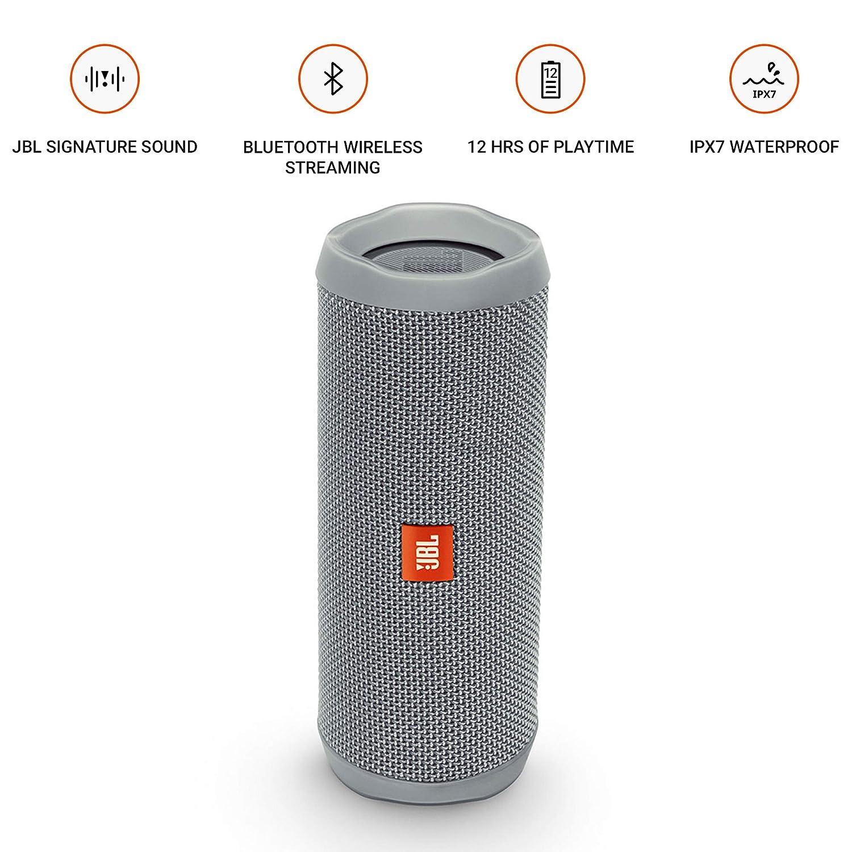1f7dae18849 Amazon.com: JBL Flip 4 Bluetooth Portable Stereo Speaker - Grey: Electronics
