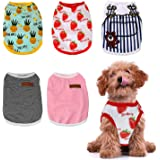 HYLYUN Dog Shirt 5 Packs - Soft Breathable Puppy Shirts Printed Pet Clothing for Small Dogs and Cats S