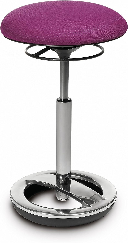 blau Fitnesshocker Arbeitshocker Topstar Sitness High Bob ergonomische Stehhilfe Stoffbezug Sitzh/öhe 49-70cm Standfu/ßring Alu poliert