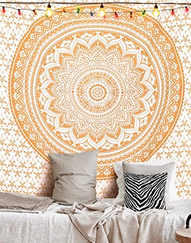 Handmade Cotton Mandala Bedspread Throw Bohemian Backdrop Medallion Yoga Meditation Picnic Garden Beach Boho Gypsy