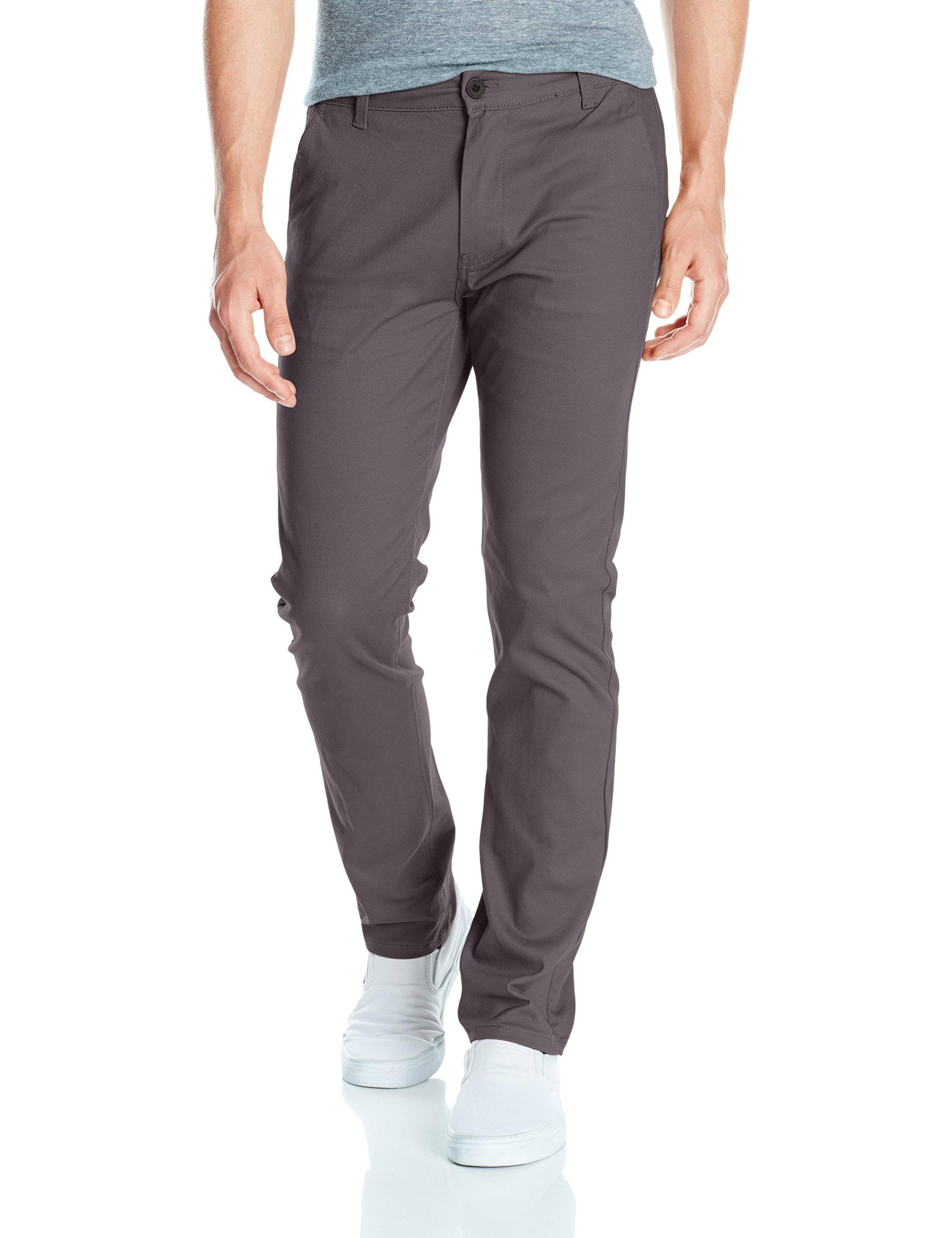 Southpole Men's Flex Stretch Basic Long Chino Pants, Dark Slate (New), 34X32