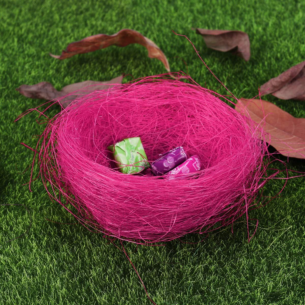 LUOEM 3pcs nid Artificiel nid doiseau de Fil color/é de P/âques Mini pour Les Oeufs de Bonbons