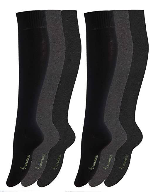 Vitasox - Calcetines hasta la rodilla - Negocios - Liso - para hombre 6 Paar Schwarz