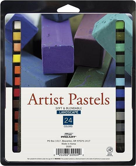 Conjunto De Pasteis Para Artista Quadrado Pro Art 24 Cores De Paisagem Amazon Com Br