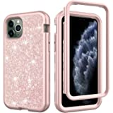 Kit Me Out World Rugged Glitter Series Case Designed for iPhone 11 Pro 5.8 Inch Case, Drop Proof, Drop Protection Full…