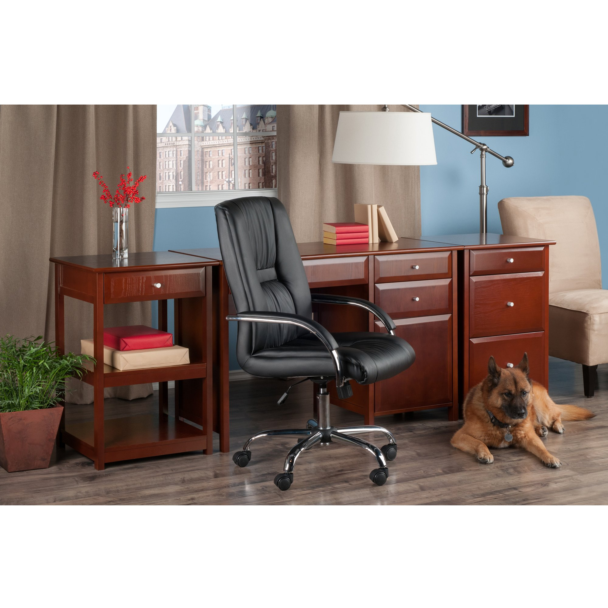 Winsome Wood 94321-WW Delta Home Office, Walnut by Winsome Wood (Image #7)