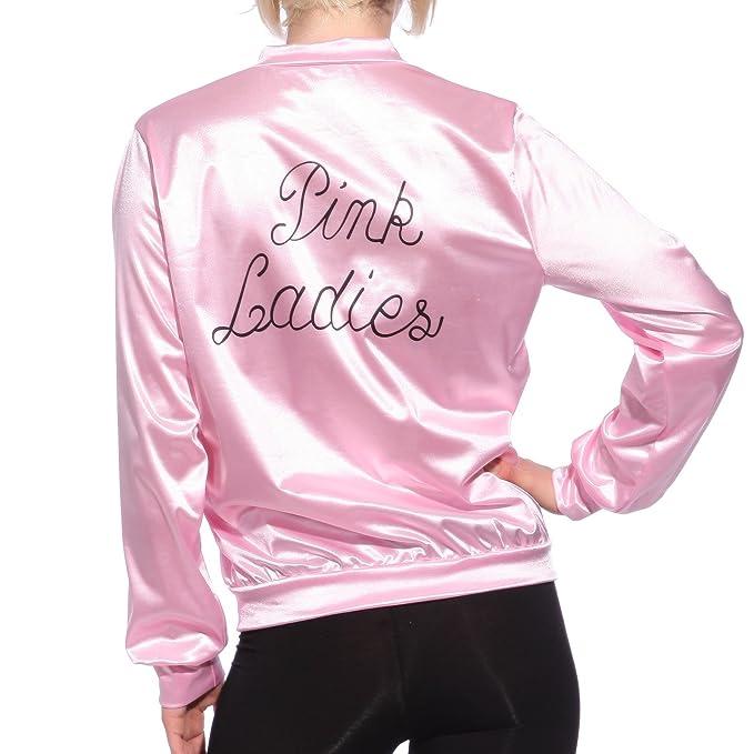 Anladia - Disfraz de Pink Lady Pink Lady Chaqueta Pink Lady Jacket Cosplay Dress Fiesta Carnaval Halloween Talla XS 36: Amazon.es: Hogar