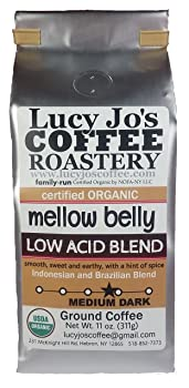Lucy Jo's Coffee Organic Mellow Belly Low Acid Blend