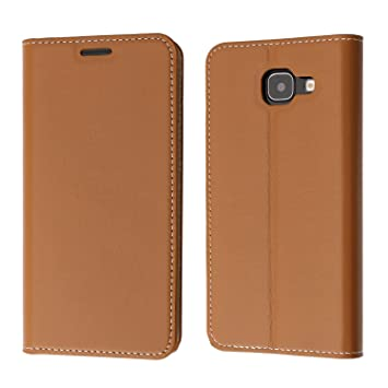 official photos 12dc2 dcba5 Samsung Galaxy A5 2016 Case, Coodio Genuine Leather Case, Samsung Galaxy A5  2016 Wallet Case, Classic Flip Case Cover with Stand Function, Card Slots  ...