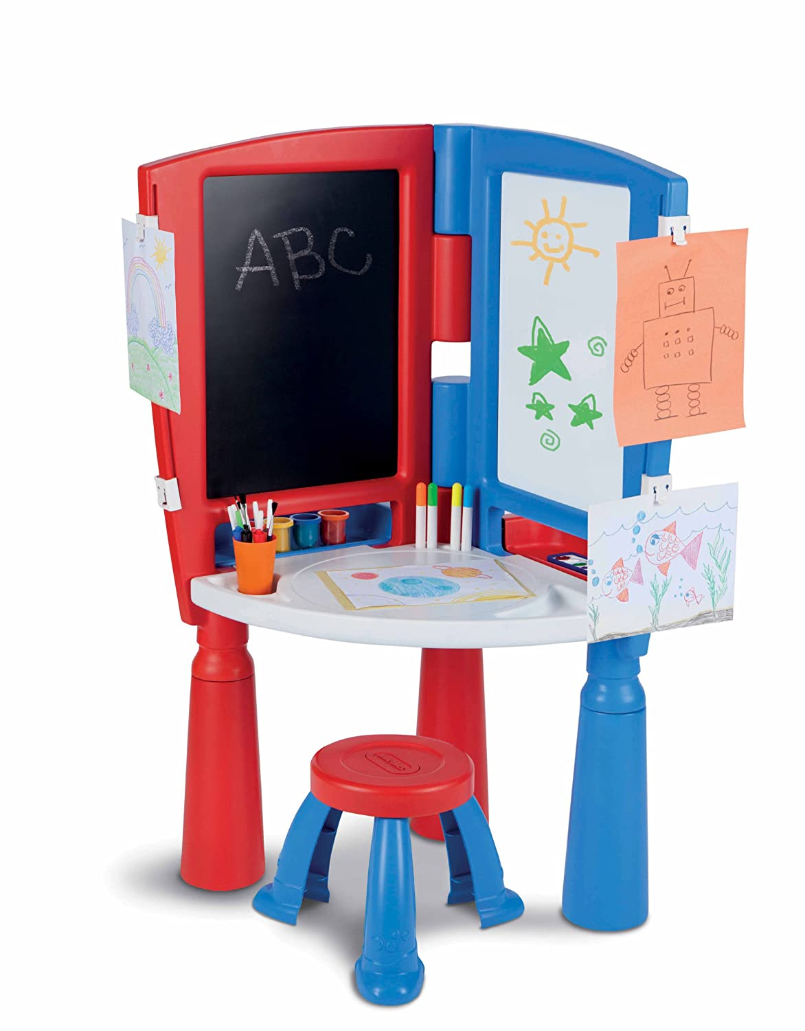 ... Tikes 2 In 1 Art Desk U0026 Easel Made In USA ...