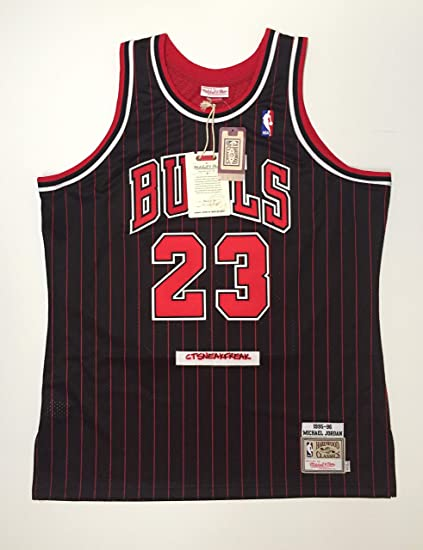 7d7cbbc355ae Image Unavailable. Image not available for. Color  Mitchell   Ness Michael  Jordan 95-96 Chicago Bulls Jersey ...