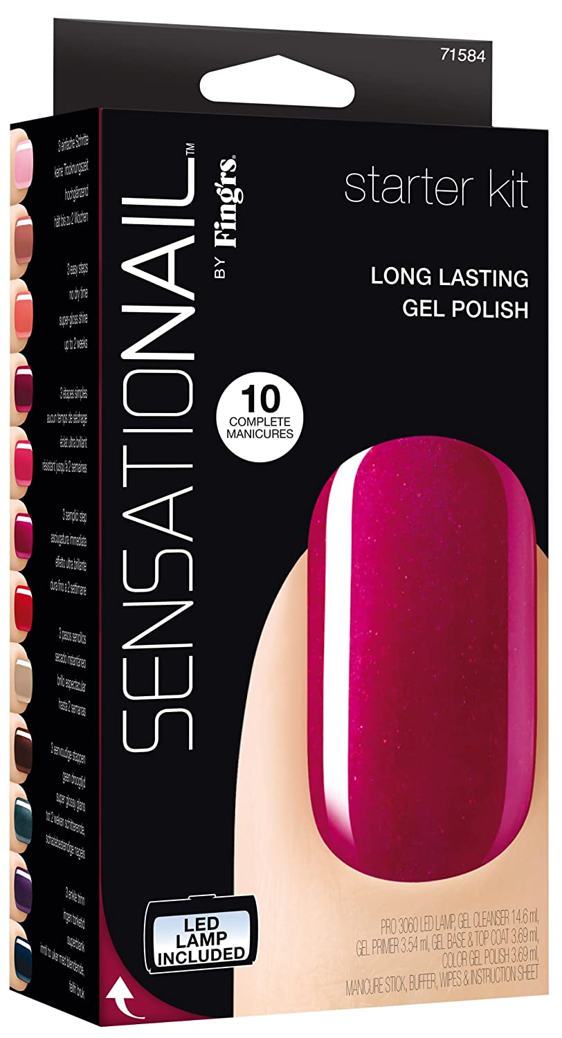 Amazon.com : Sensationail Gel Polish Starter Kit, French Manicure ...