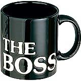 Original Waechterbach Tasse/Kaffeebecher/Kaffeepott im THE BOSS- Design/Originelles Geschenk in schwarz
