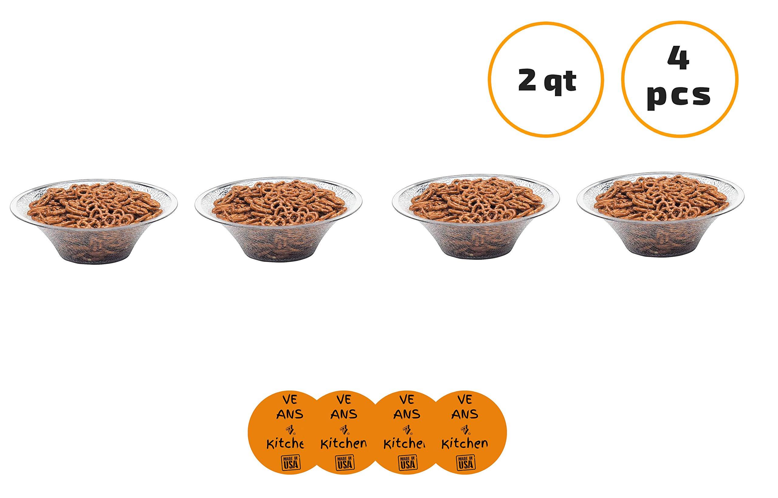 Cambro BSB10176 2 Qt. Pebbled Bell-Shaped Serving/Salad Bowl (4 pcs) - w/coasters