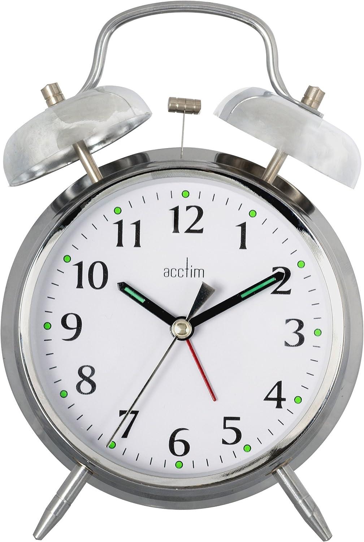 Chrome Acctim 12997 Saxon Quartz Alarm Clock