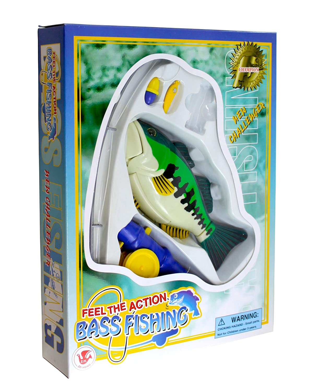 Amazon.com: PennToy Bass Fishing Bathtub Toy - Swimming Fish: Toys ...