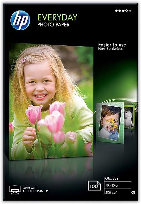 HP CR757A - Papel fotográfico brillante (100 hojas, 10 x 15 cm ...