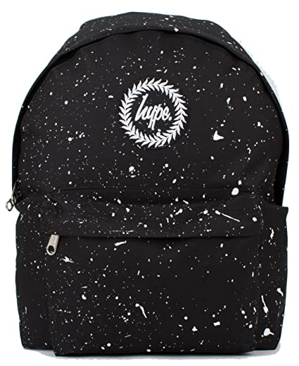 4598be0a73fe Hype Backpack Rucksack Shoulder Bag - Black with White Speckle - for Boys  and Girls, Women and Men - Black White Speckle