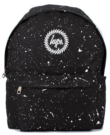 206adef96fcb Hype Backpack Rucksack Shoulder Bag - Black with White Speckle - for Boys  and Girls