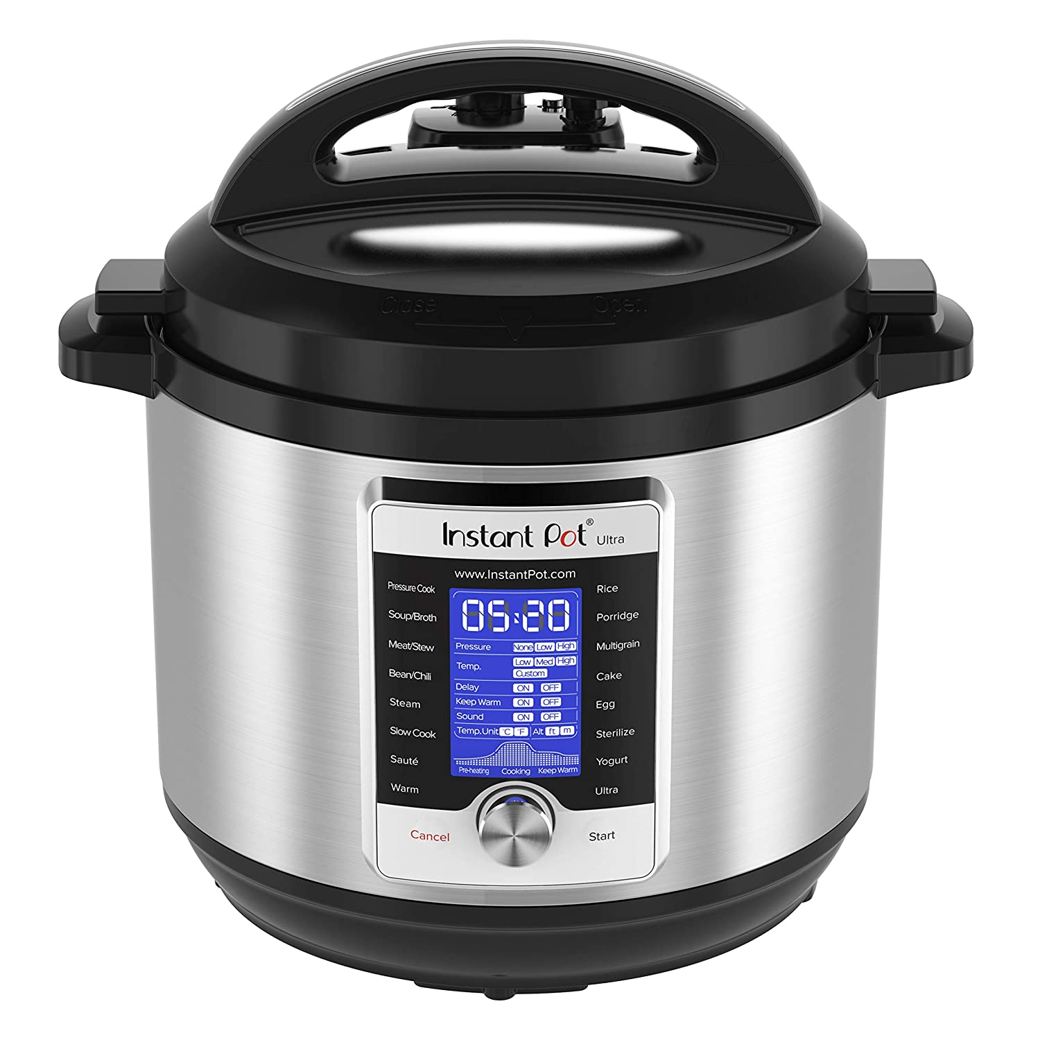 Instant Pot Ultra 8 Qt 10-in-1 Multi- Use Programmable Pressure Cooker, Slow Cooker, Rice Cooker, Yogurt Maker, Cake Maker, Egg Cooker, Saut , Steamer, Warmer, and Sterilizer