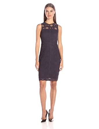 Amazon.com: Adelyn Rae Women's Lace Knee Length Dress: Clothing