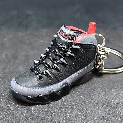 edfd73797dd Amazon.com : Air Jordan IX 9 Retro Johnny Kilroy Black Red OG Sneakers Shoes  3D Keychain Figure : Everything Else