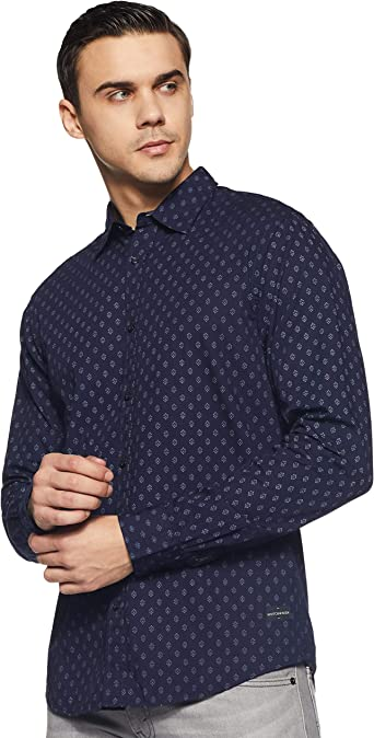 Scotch & Soda Regular Fit- Classic All-Over Printed Shirt Camisa para Hombre: Amazon.es: Ropa y accesorios