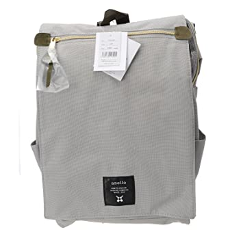 2e6c0aa81 Amazon.com: Anello Official Flap Cover Grey Japan Fashion Shoulder Rucksack  Backpack School Travel Bag Large AT-B1224: TEC Direct