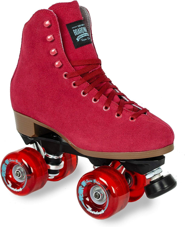 5 Sure-Grip Red Boardwalk Skates Outdoor