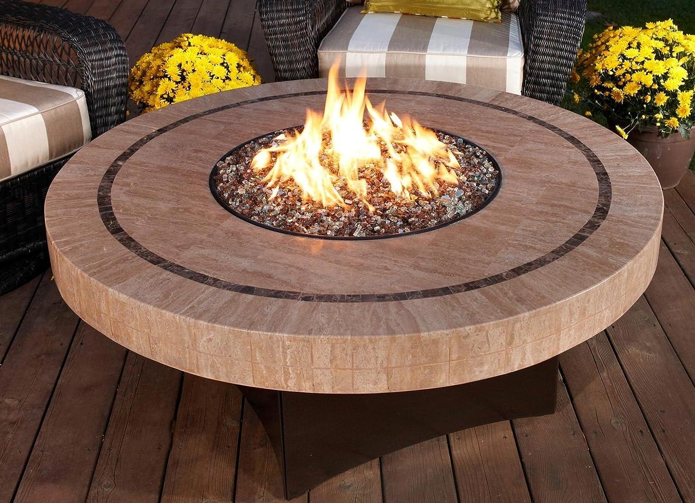 Oriflamme Fire Table Sahara Stone Gas Fire Pit Amazon Co Uk Garden Outdoors