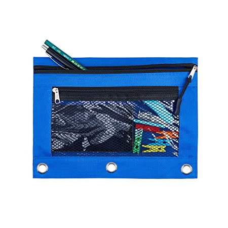 Amazon.com: Estuche para lápices con 3 anillas y tirador de ...