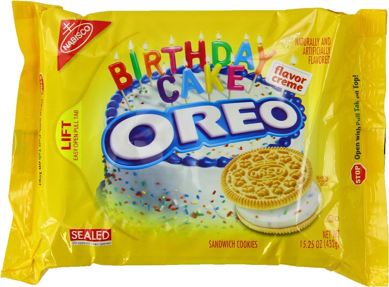 Fantastic Oreo Golden Birthday Cake Creme 15 25 Oz Pack Of 3 Amazon Co Uk Personalised Birthday Cards Veneteletsinfo