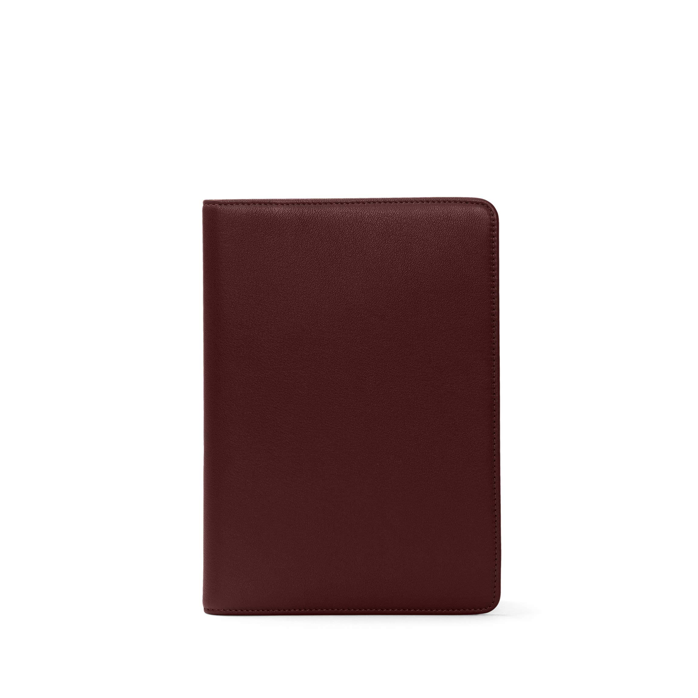 Medium Journal - Full Grain Leather Leather - Bordeaux (Red)