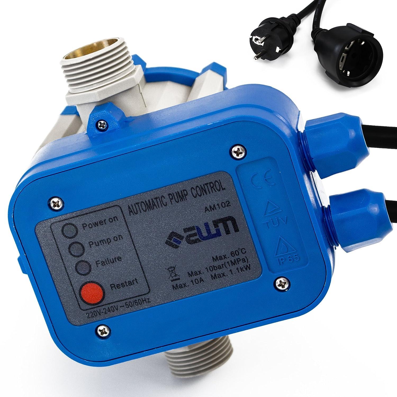 AWM Pumpen Druckschalter automatische Pumpensteuerung, verkabelt, Trockenlaufschutz, Rückschlagventil, maximale 10 bar, AM-102 Rückschlagventil AM.102
