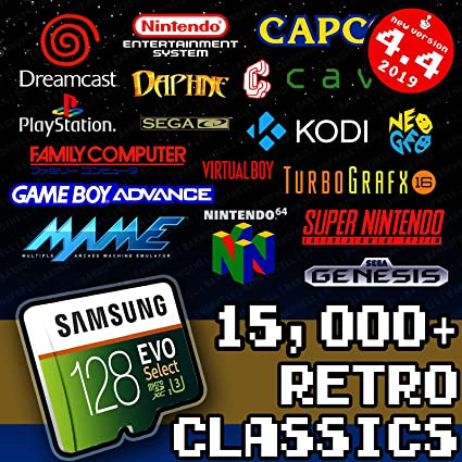 128 GB Retropie 4 4 SD Card - Premium Collection with Video Previews & 3D  Boxart