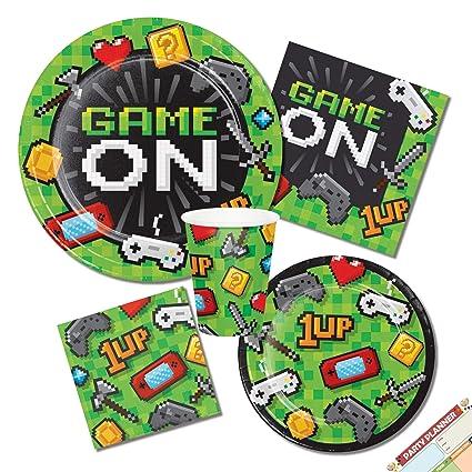 Amazon.com: Juego de videojuegos de cumpleaños, fiestas de ...
