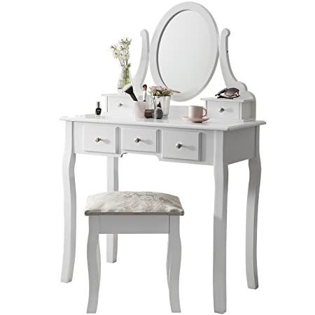 Laura James Vienna | Dressing Table, Mirror & Stool Set| Premium ...