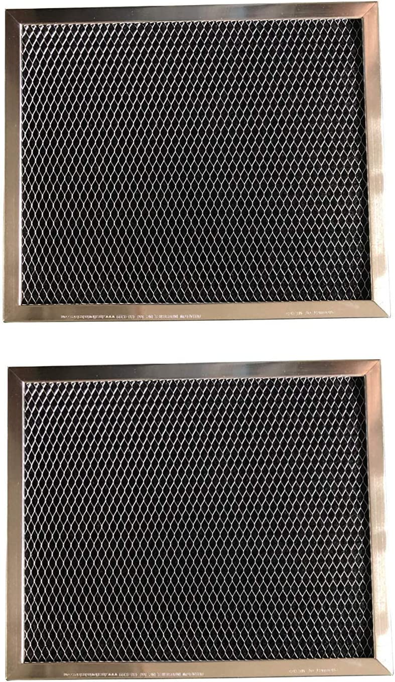 Aluminum and Activated Carbon Range Hood Filter - 8 x 9 1/2 x 5/16-2 Pack