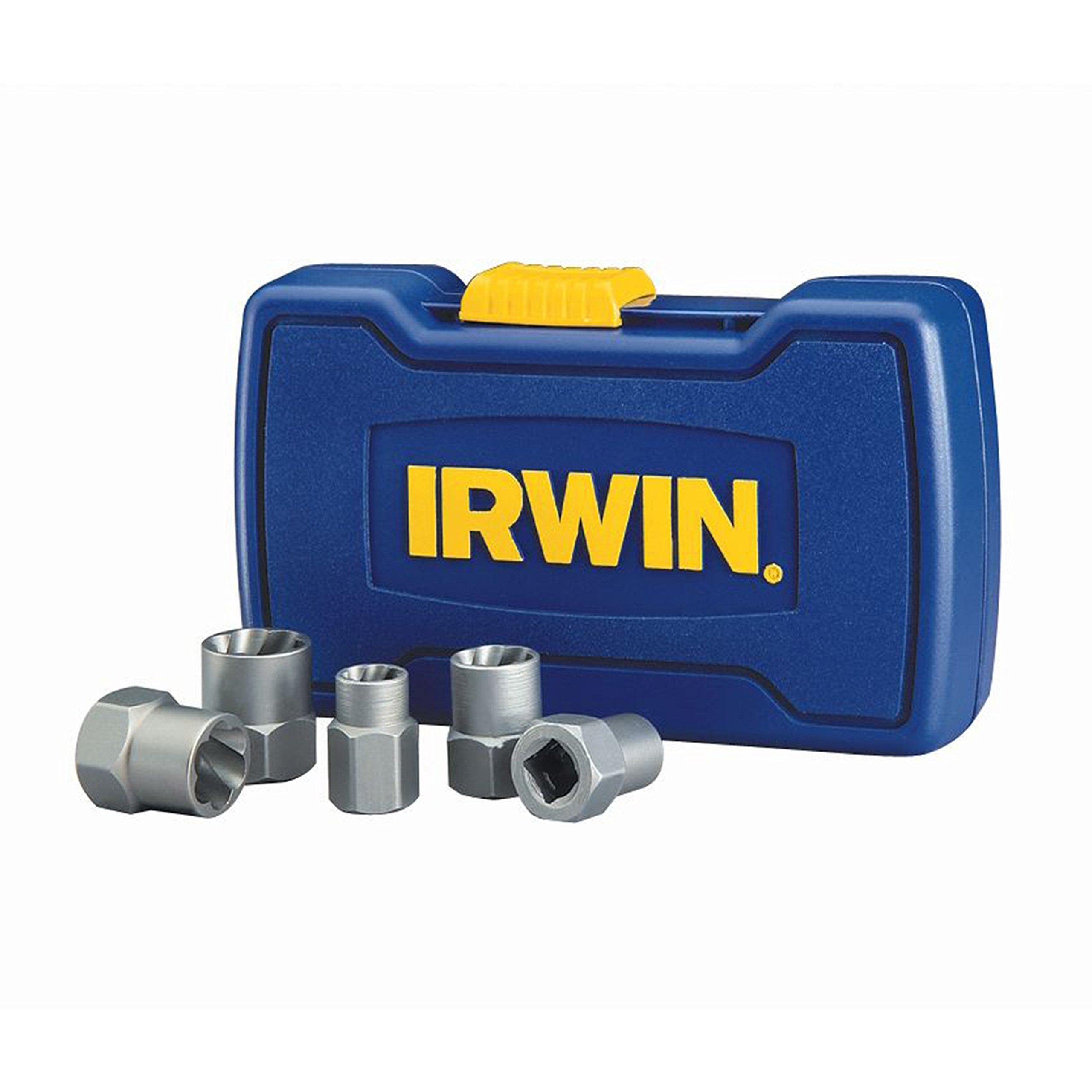 IRWIN HANSON BOLT-GRIP Bolt Extractor Base Set, 5 Piece, 394001 by Irwin Tools