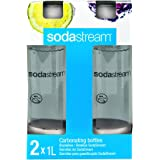 Sodastream 1l Carbonating Bottles- White (Twin Pack)