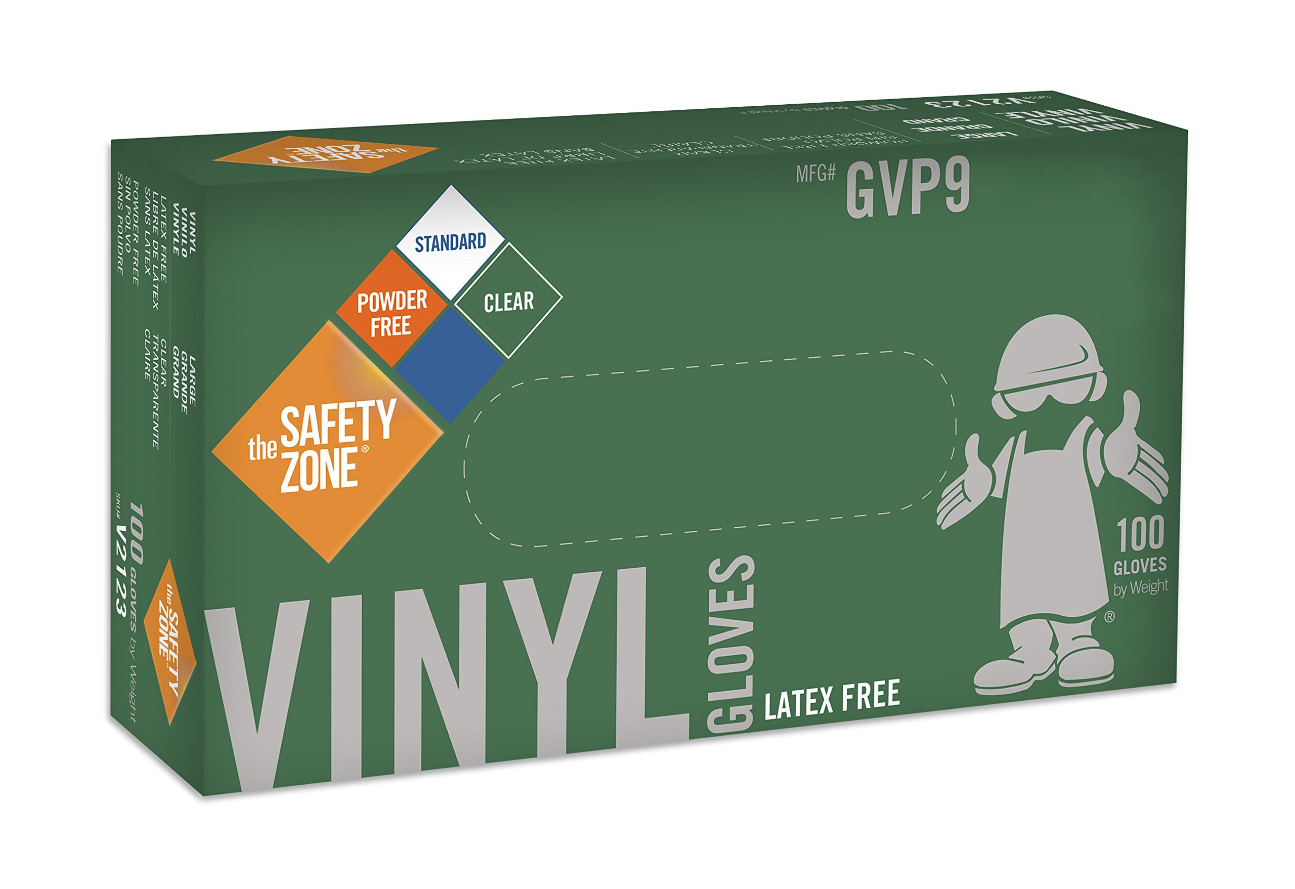 Disposable Vinyl Gloves - Powder Free, Clear, Latex Free and Allergy Free, Plastic, Work, Food Service, Cleaning, Wholesale Cheap, Size Small (Case of 1000)