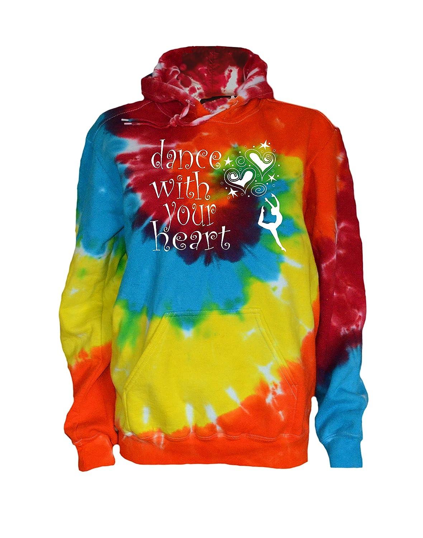 Dance with Your Heart Logo JANT girl Dance Tie Dye Sweatshirt