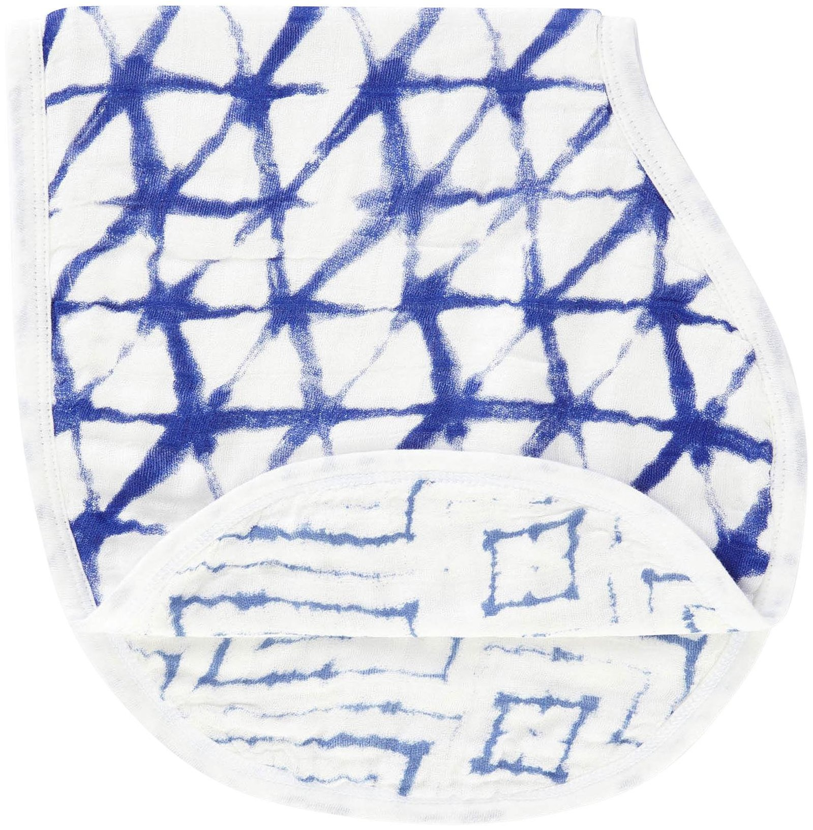 aden + anais silky soft burpy bib, indigo shibori