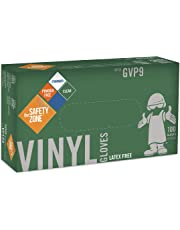 The Safety Zone Vinyl Disposable Gloves, Large, 100 Count