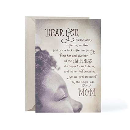 Hallmark Mahogany Religious Birthday Greeting Card For Mother Angel I Call Mom