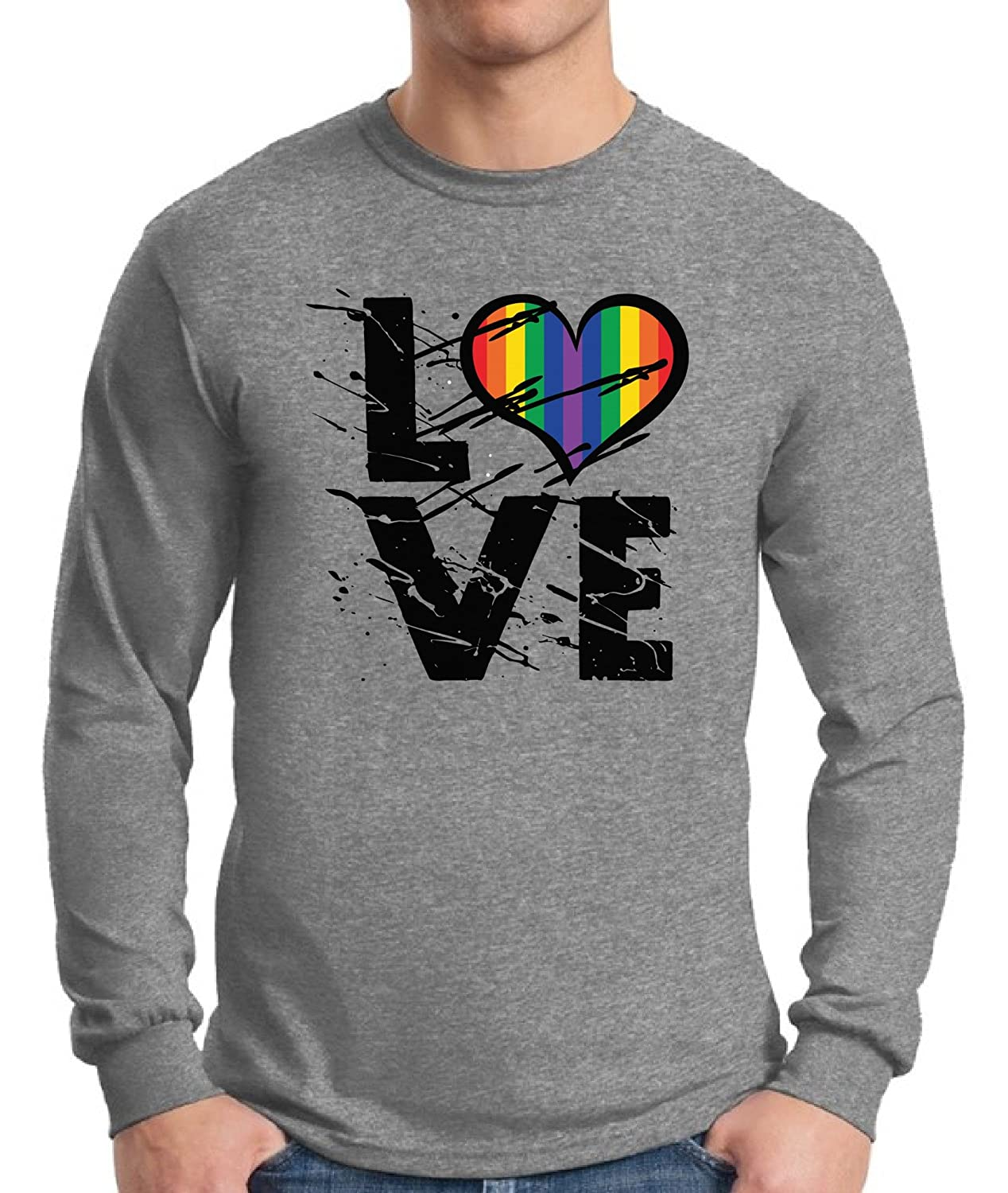 18598cbd89 Strut around in this Awkward Styles Love Long Sleeve T shirt Tee and spread  the love for all the colors of the rainbow!