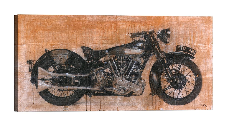 Rahmen Druck auf Leinwand mit Rahmen in in in Holz Dario Moschetta Brough Superior 200x100 CM B07BNK339R | Zu einem niedrigeren Preis  d1d552