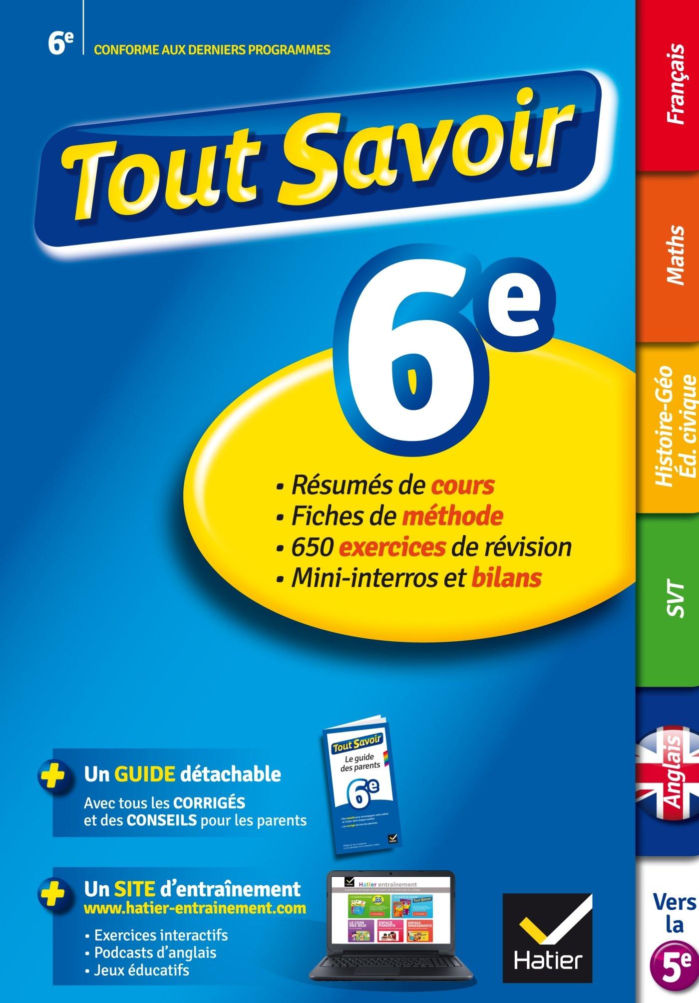 Amazon Fr Tout Savoir 6e Reviser Toutes Les Matieres